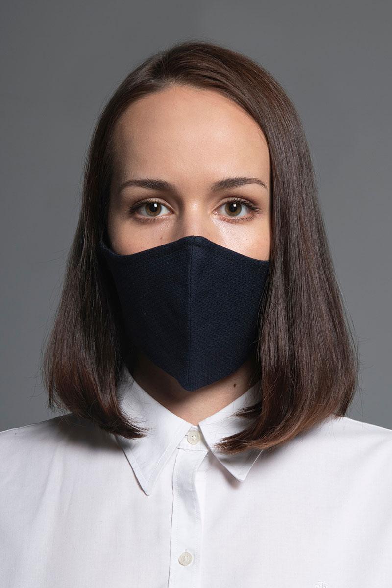 Heritage ochranná  maska, 2vrstvá 100% bavlna s bambusovou podšívkou, unisex, tmavě modrá