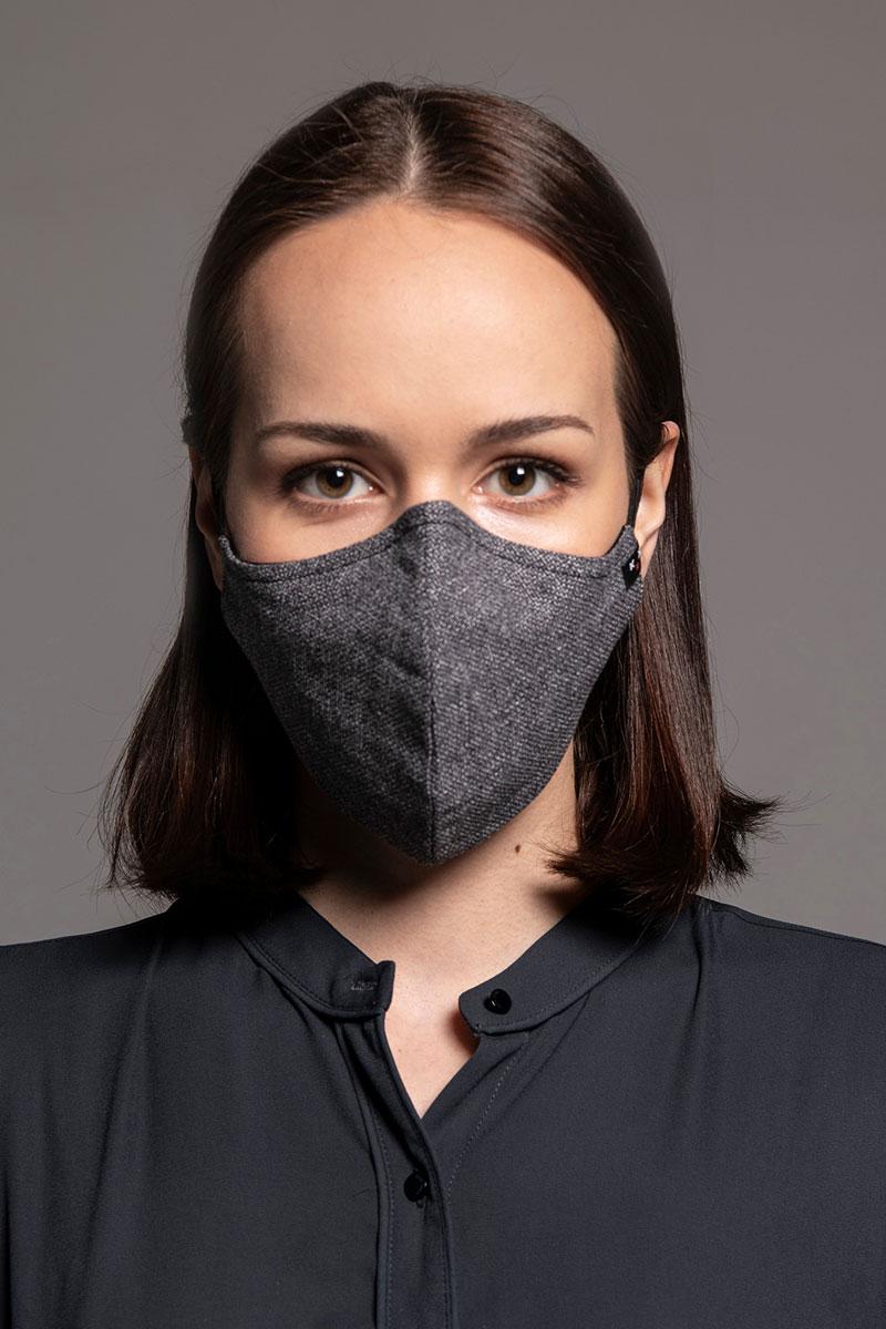 Heritage ochranná maska, 2vrstvá (70% bavlna, 30% len) s bambusovou podšívkou, unisex, šedá