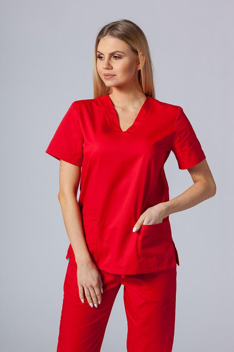 Lékařská halena Sunrise Uniforms červená
