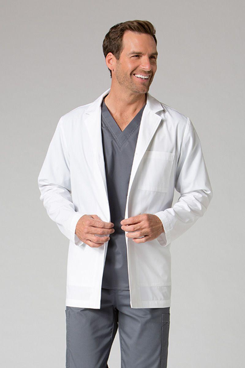 Pánský lékařský plášť Maevn Red Panda bílý (krátký)
