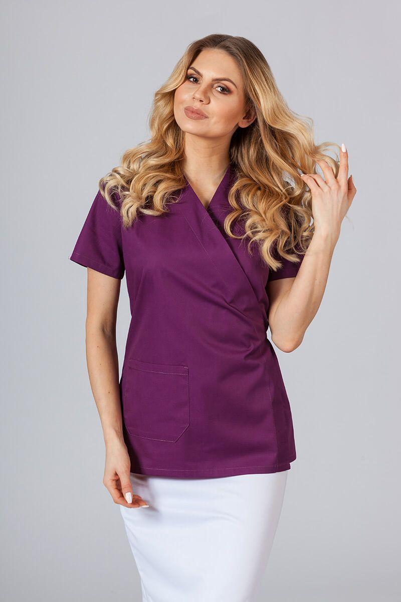 Zástěra/dámská halena s vázáním Sunrise Uniforms lilková