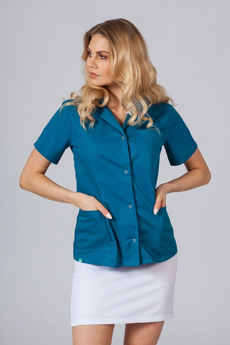Lékařské sako 02 Sunrise Uniforms karaibsky modré