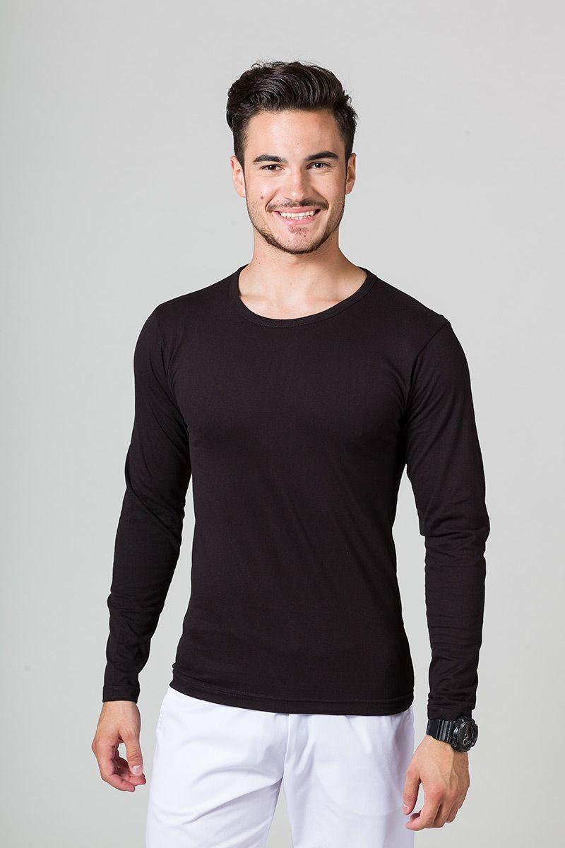 Pánské tričko s dlouhým rukávem černé