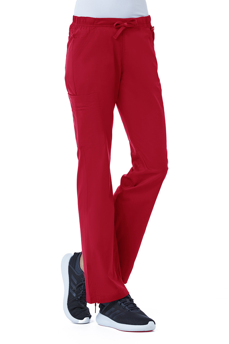 Lékařské kalhoty Maevn Blossom (elastic) červené