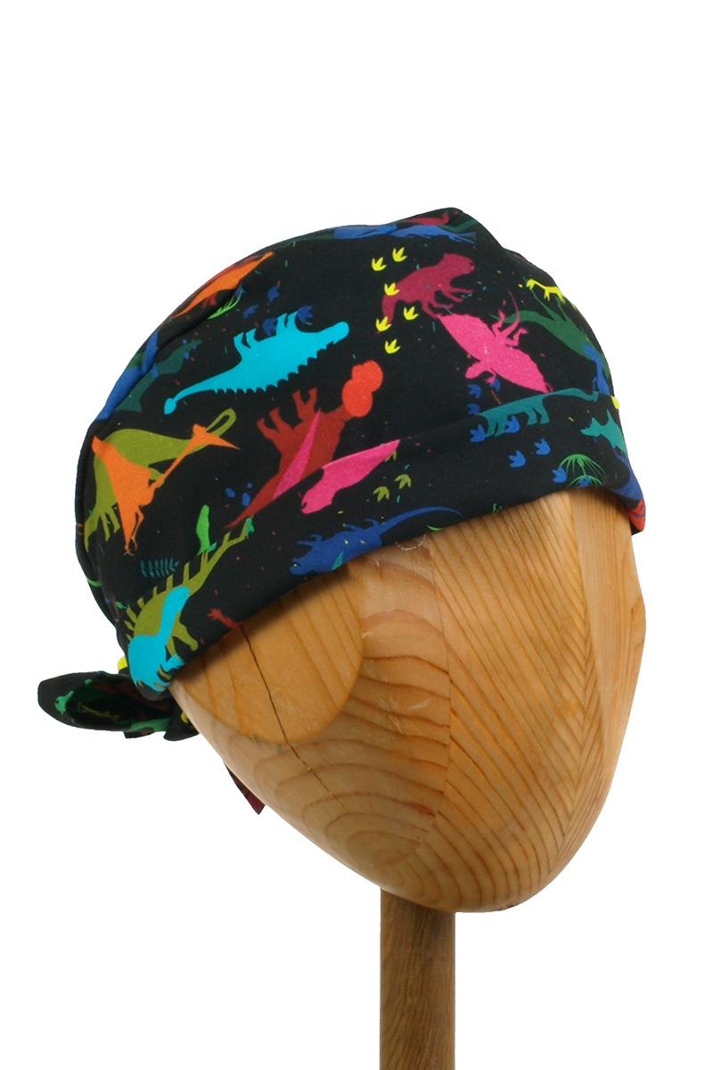 Zdravotnická zavinovací čepice Sunrise Uniforms Style Unisex dinosauři