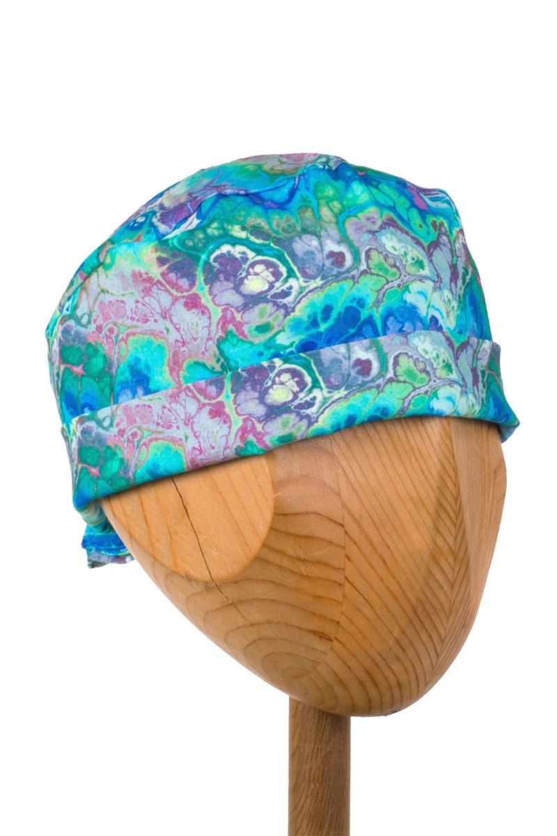 Lékařská zavinovací čepice Sunrise Uniforms Style Unisex modrá imprese