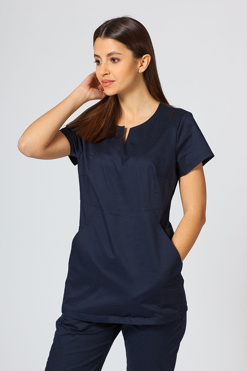 Dámská zdravotní halena Sunrise Uniforms Kangaroo (elastická), námořnická modř