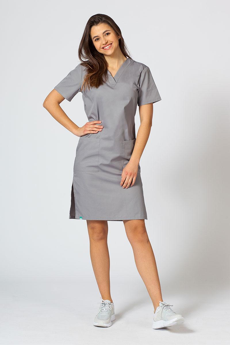 Lékařské Jednoduché šaty Sunrise Uniforms tmavě šedé