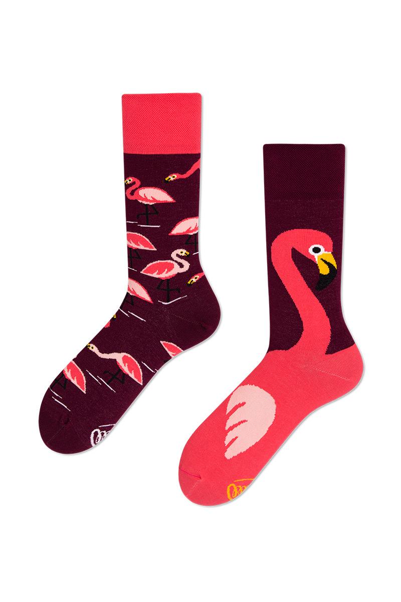 Barevné ponožky Pink Flamingo - Many Mornings
