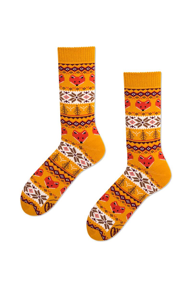 Barevné ponožky Warm Fox (teplé) - Many Mornings